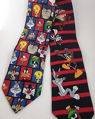 Looney Tunes Tie Bugs Bunny Tweety Bird Taz Sylvester 2 for $10.99