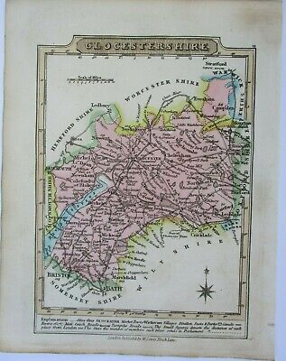 Antique map of Gloucestershire by William Lewis 1819