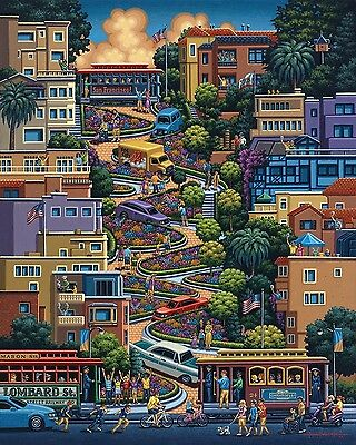 Jigsaw Puzzle Explore America Lombard St San Francisco New 500 Piece Made In Usa