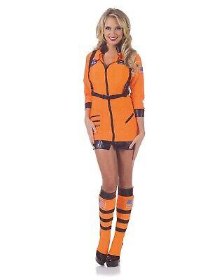 Astronaut Girl Costume (Womens Cosmic Sexy Astronaut Space Girl Romper Adult Halloween Costume)