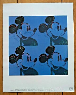 Andy Warhol Mickey Mouse Print Myths: Mickey Mouse 1981 Disney