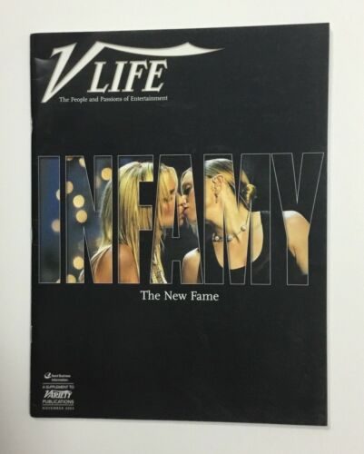 Rare Madonna Kissing Britney Spears Variety Life Magazine November 2003 No Label