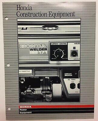 Vintage Honda Construction Power Equipment Water Pumps Generators 1988 Brochure