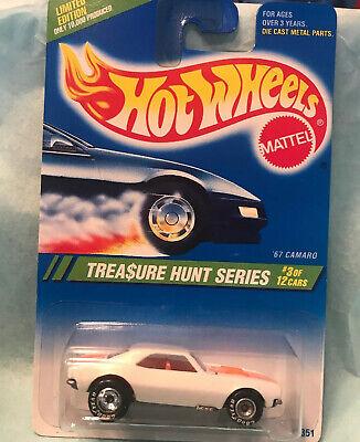 Hot Wheels Camaro '67, 1995 Treasure Hunt 1/10,000.... CHROME Rear Wheels Varia.