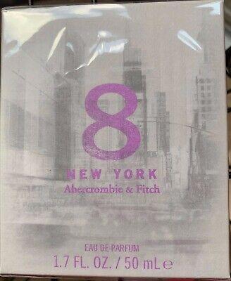 ABERCROMBIE & FITCH 8 New York 1.7 Eau De Parfum EDP Perfume New in Box Sealed