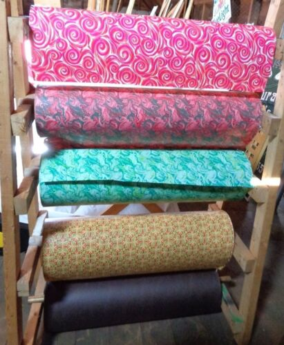 Vintage LARGE Wrapping Paper Dispenser Rack and Rolls 60-70s (PICK UP ONLY - NJ)