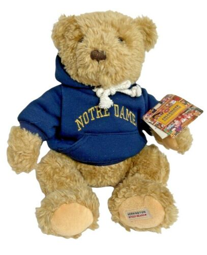 Norte Dame Teddy Bear Plush w/ hoodie Herrington Collegiate College 2008 Limited