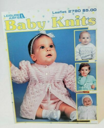 Leisure Arts Leaflet 2780 Baby Knits - 4 Outfits - Out of Print