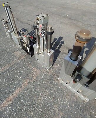 Lot Of 5 Pneumatic Thrusters Double Slide Cylinder All Working. Phd See Photos