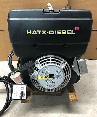 "Hatz 9.9HP Diesel Engine 1B40 Electric Start 1"" Shaft MC714 Single Cylinder 10HP"