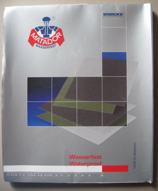 50 Stück Starcke Brillux Matador Siliciumcarbid Papier 230 x 280 mm Körnung 2000