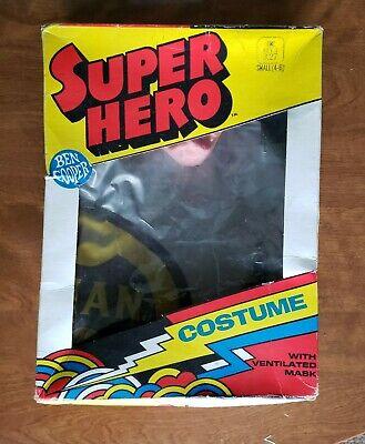 Vintage 1973 Ben Cooper Batman 250 Costume Child's Sm 4-6 Original Box