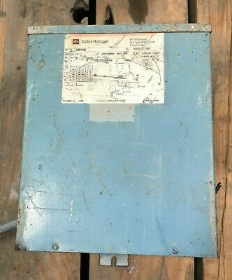 Cutler Hammer 10 Kva Step Transformer Pri 240480 Sec 120240 1 Phase