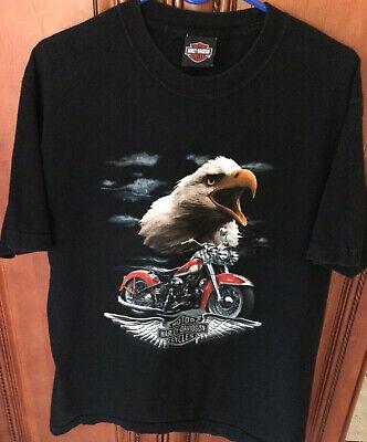 Men's Harley davidson Motorcycle Eagle T shirt - Las Vegas, Size Large