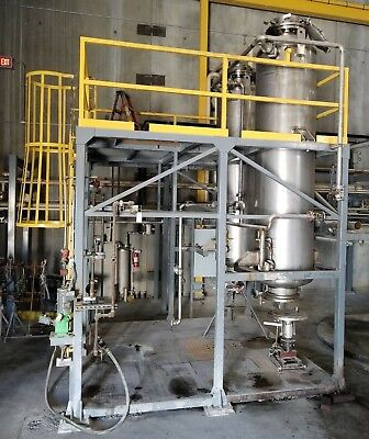 Northland Inc. Vertical Stainless Steel Salt Drying Vessel, 650 Gallons, 75 PSI