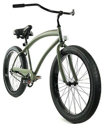 Zycle Fix Cobra Beach Cruiser Bicycle Bike Army Green NEW Beach Bicycle Bike