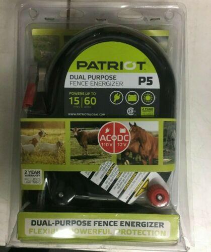 Patriot P5, Dual Purpose Fence Energizer, 12V DC - 110V AC
