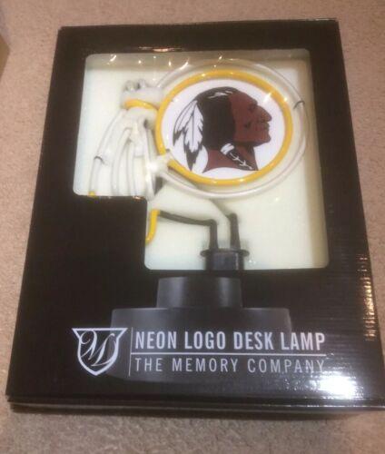 Washington Redskins Neon Logo Desk Lamp/Light/Sign - The Mem