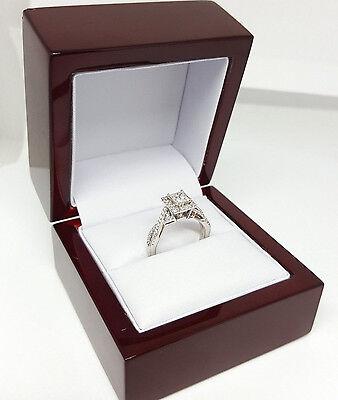 0.77 ct 14K White Gold Princess Cut Diamond Engagement Ring GIA G / VS2 8