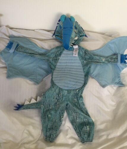 Pottery Barn Kids Blue Dragon Costume 3T GUC