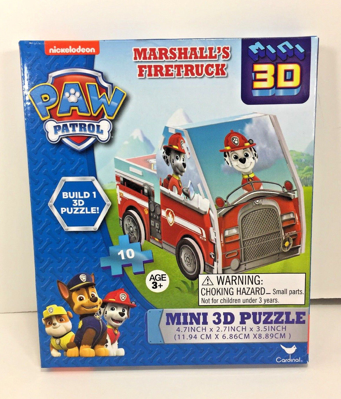 new paw patrol mini 3d puzzle 10pc