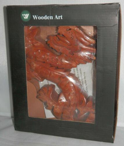 Wit Wooden Art 3D DRAGON PUZZLE - Jigsaw Sculpture Decor Carved Oriental NEW
