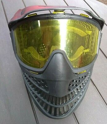 JT Mask Faceguard Visor Airsoft Paintball Amber Yellow Tinted Goggles Lens Gear