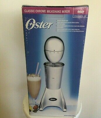New Oster Classic Chrome Milkshake Mixer Model 6627 2 Speed