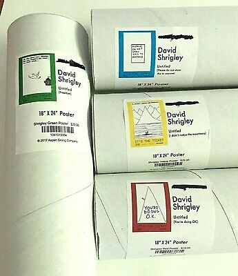 4 David Shrigley Art Posters 18x24 Doing Ok,Freedom,Mountains,Do Not ShowThis