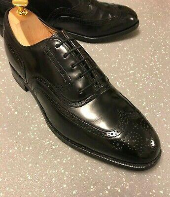 Men's Johnston & Murphy USA Black Leather Brogues UK 8 - 8.5 EU 42 - 42.5 US 9.5