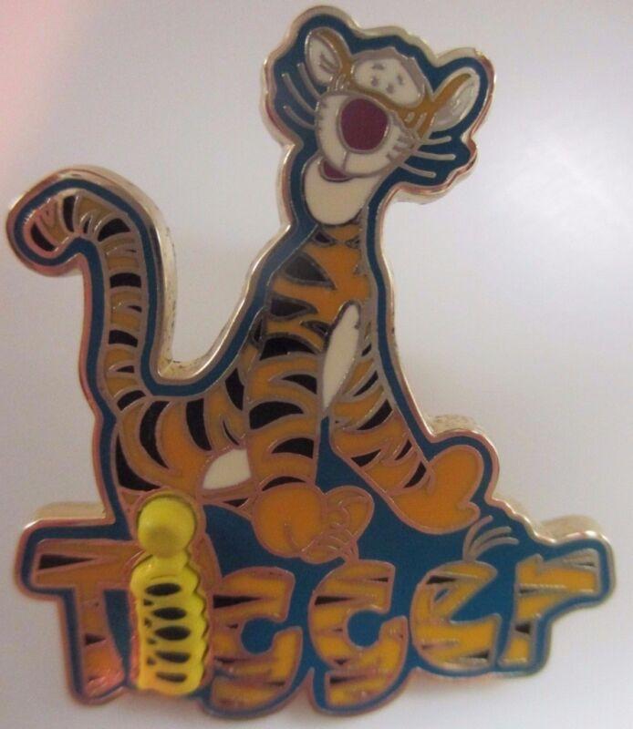Disney Pin * DLR Character Name Pin - Tigger 3D #12394