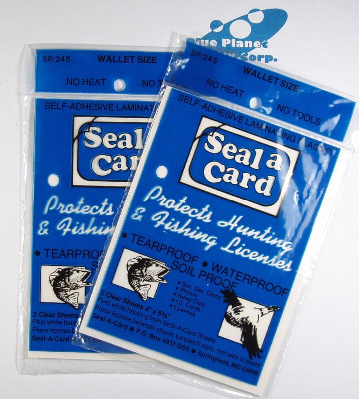 Plastic Self-Adhesive Lamination Sheets Seal a Card Seal-a-Card, Laminate 2 Paks