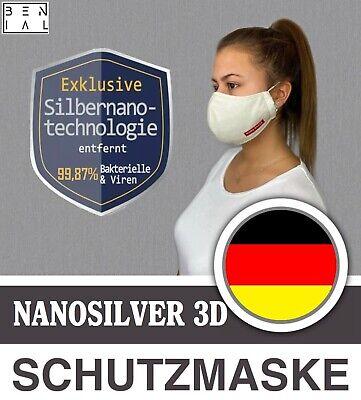 2x Atemschutzmasken 99,87% Mund-Nasenschutz Maske Nano Silver 3D Wiederverwendb