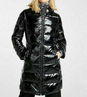Michael Kors – ¾ Down Filled Shiny Puffer Jacket Medium Black M824363T47 - $240