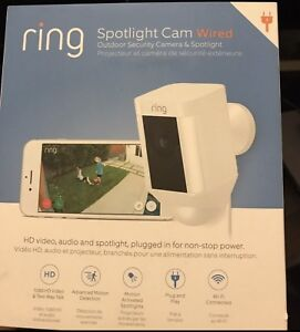 Brand new Ring Spotlight Cam Wired Outdoor Security! $170