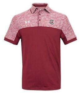 South Carolina Gamecocks Under Armour Garnet Podium Large Polo Shirt - Sideline