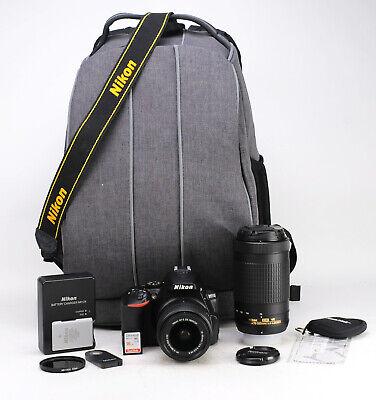 Nikon D5500 DSLR Camera + AF-S 18-55mm VR II & AF-P 70-300mm VR Dual Lens Kit