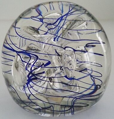 Paperweight Signed By Artist Eric Kvarnes Glassworks Gallery Studio Dated 6/1994