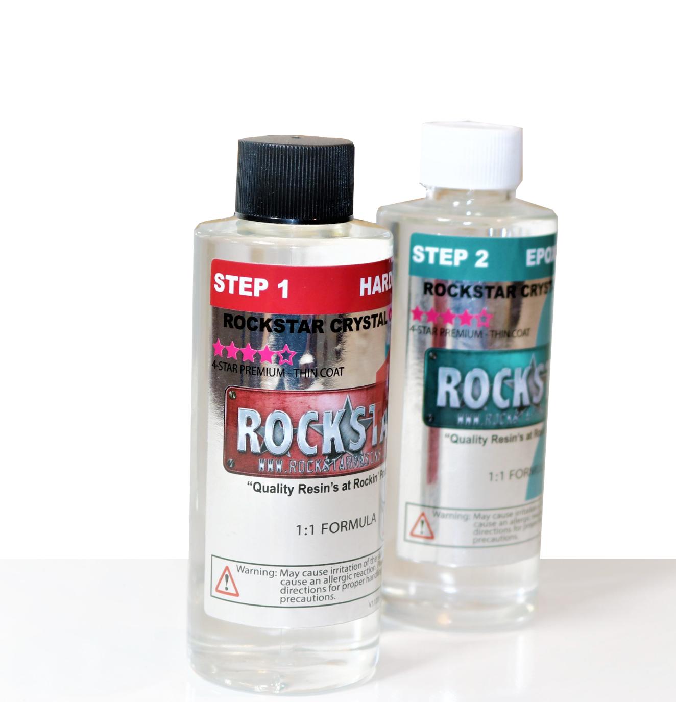 Rockstar Crystal Clear Premium Epoxy Resin - 8oz Kit - 4-Sta