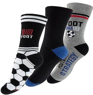 6 - 12 Paar Jungen Socken Fußball Kinderstrümpfe Football Kindersocken Soccer
