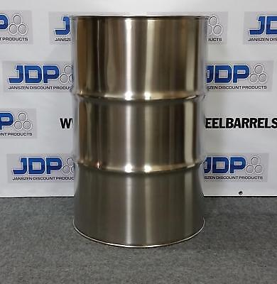55 Gallon Stainless Steel Barrel Drum Closed Top 1.2mm Thick New