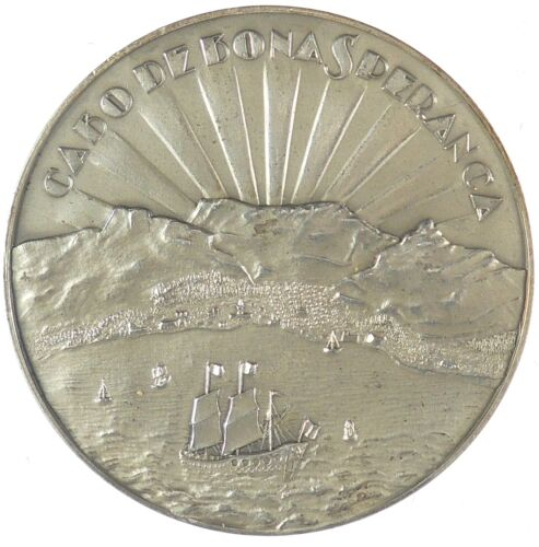 S. Africa Religion  city view 250TH ANNIVERSARY. OF THE HUGUENOTS silver 50mm