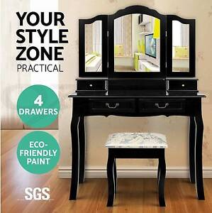 Black Luxury Dressing Table & Stool Mirrors Jewellery Brand New Brisbane City Brisbane North West Preview