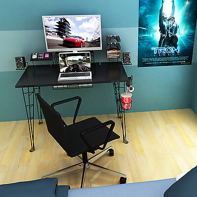 Atlantic Gaming Desk In Black With 8 Accessories 33935701 New
