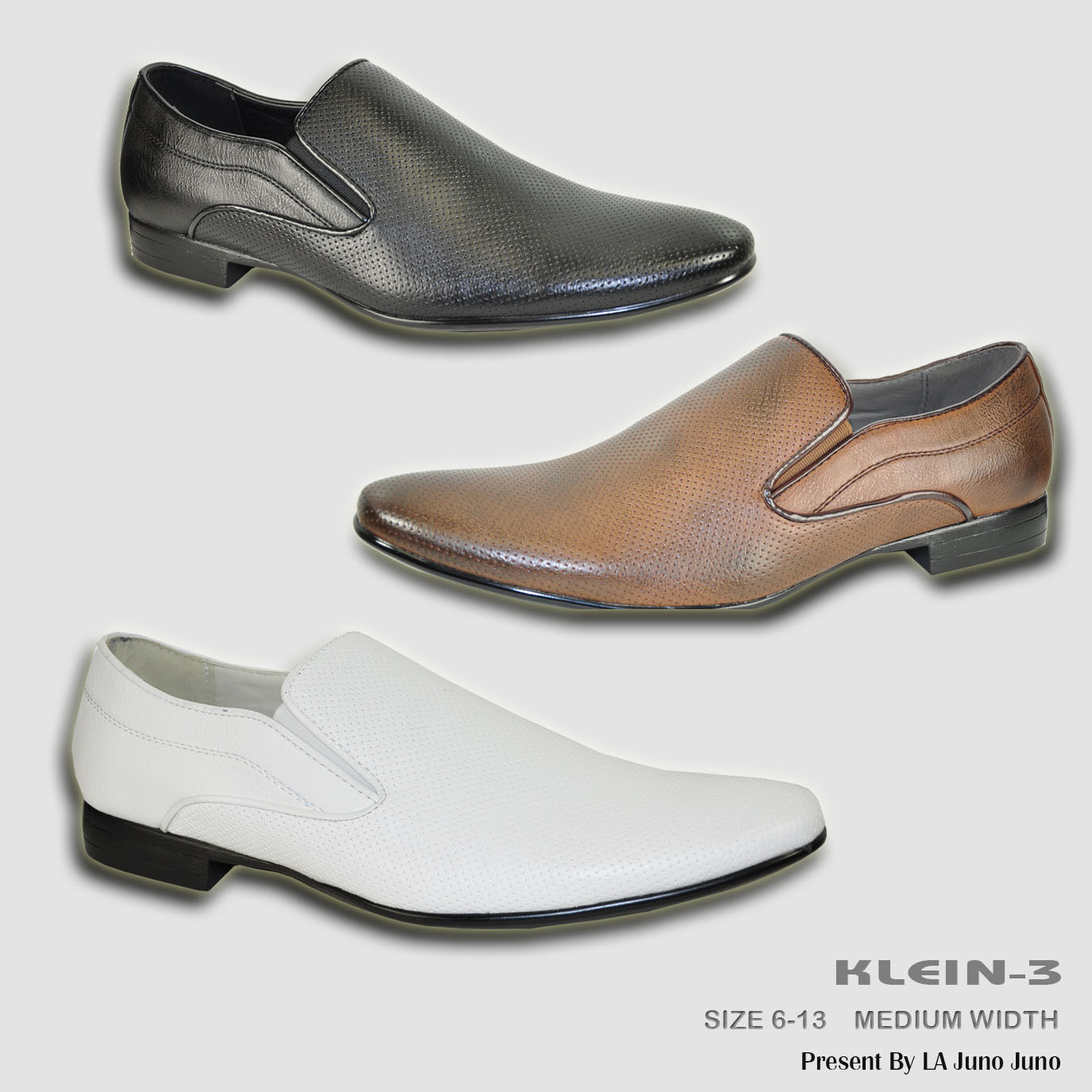 BRAVO New Men Dress Shoes KLEIN-3 Loafer Fashion with Plain Round Point Toe