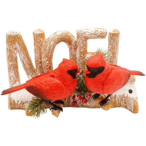 Singing Birds Red Cardinals Chirping WE WISH YOU A MERRY CHRISTMAS New NOEL