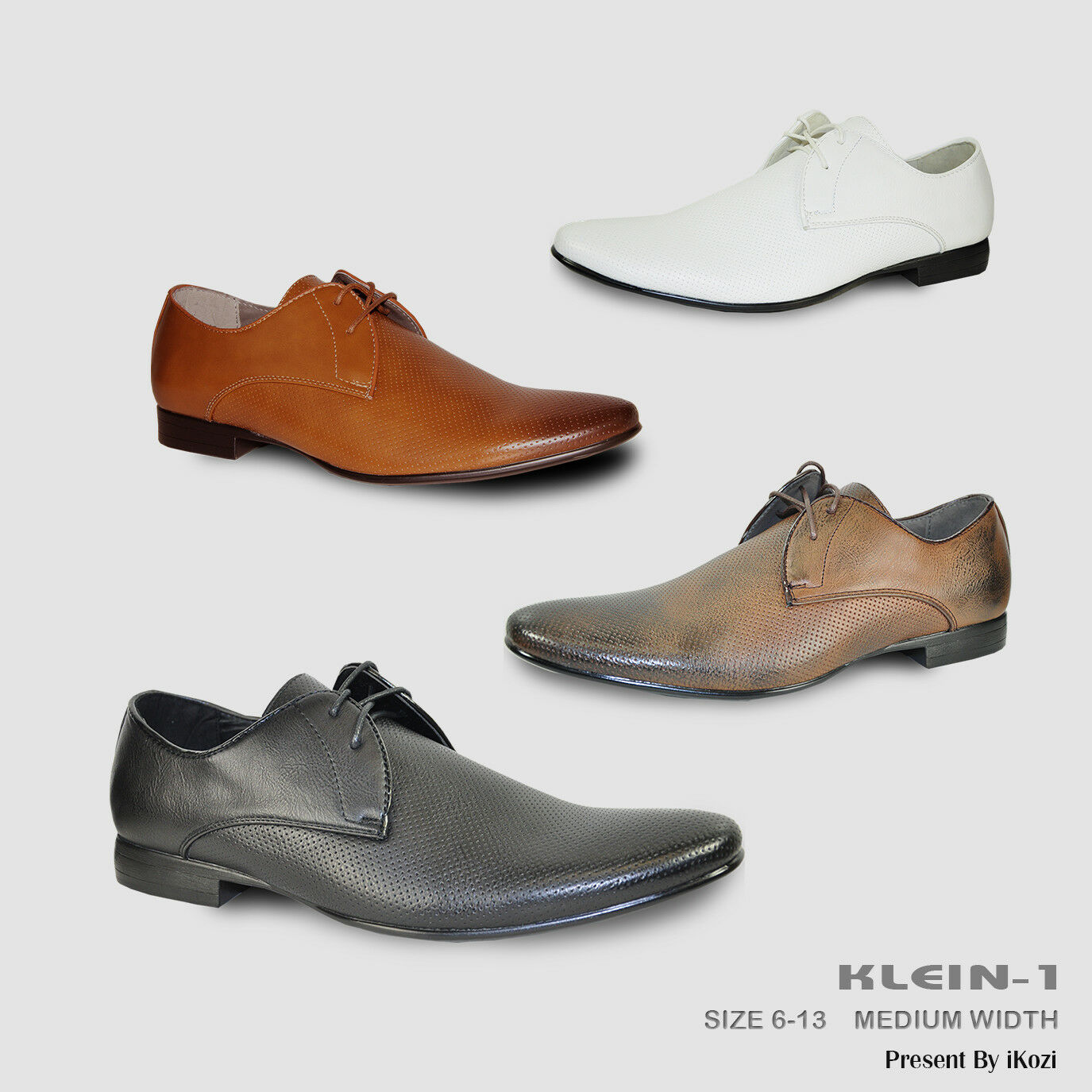 BRAVO New Men Dress Shoes KLEIN-1 Oxford Fashion with Round Plain Toe