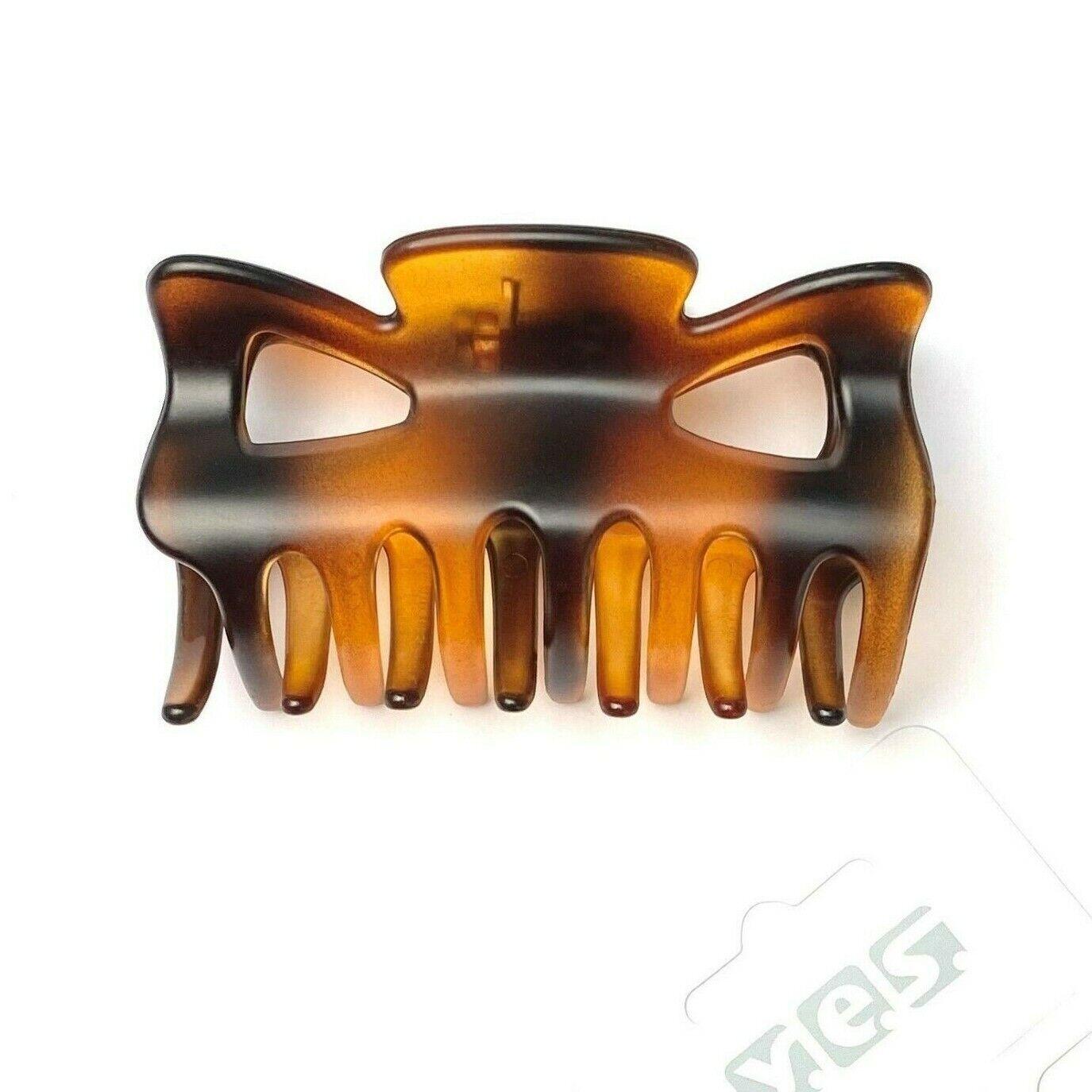 Haarkrebs Haarklammer Haarspange Haarkralle braun matt ca. 9 cm x 5,5 cm SOLIDA