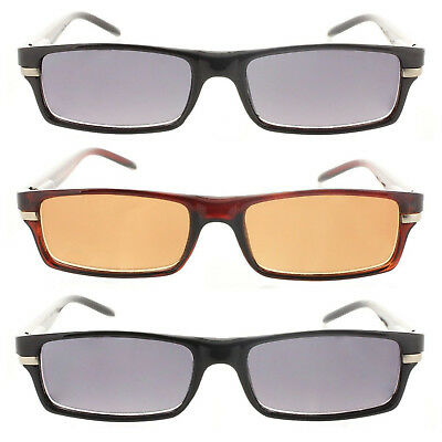 Reading Glasses Tinted Sunglasses Full Frame Readers for Men and (Tints And Shades)