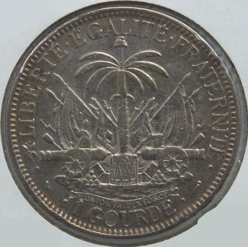 1882 Haiti Silver Coin 1 Gourde BD609